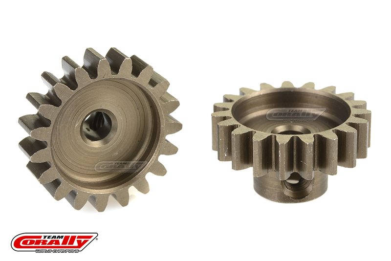 Team Corally - 32 DP Pinion - Short - Hardened Steel - 19 Teeth - Shaft Dia. 3.17mm