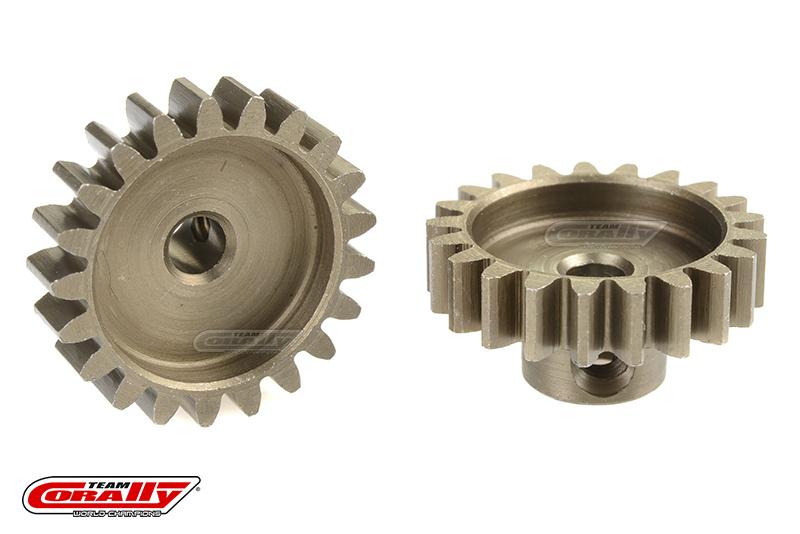 Team Corally - 32 DP Pinion - Short - Hardened Steel - 21 Teeth - Shaft Dia. 3.17mm