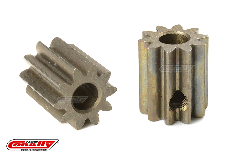 Team Corally - M0.6 Pinion - Short - Hardened Steel - 10 Teeth - Shaft Dia. 3.17mm