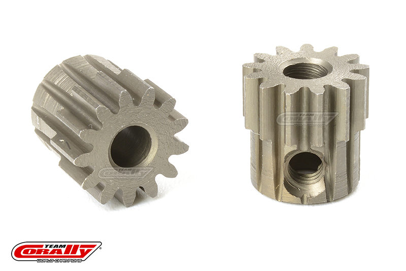 Team Corally - M0.6 Pinion - Short - Hardened Steel - 13 Teeth - Shaft Dia. 3.17mm