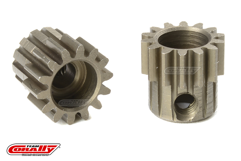 Team Corally - M0.6 Pinion - Short - Hardened Steel - 14 Teeth - Shaft Dia. 3.17mm