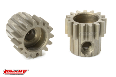 Team Corally - M0.6 Pinion - Short - Hardened Steel - 15 Teeth - Shaft Dia. 3.17mm