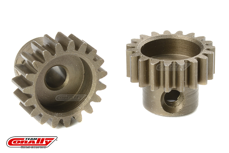 Team Corally - M0.6 Pinion - Short - Hardened Steel - 19 Teeth - Shaft Dia. 3.17mm