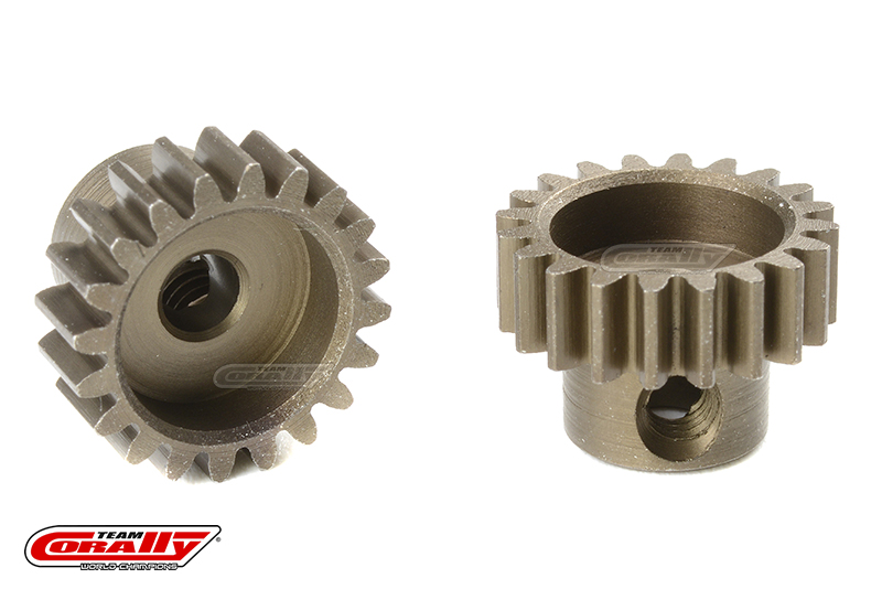 Team Corally - M0.6 Pinion - Short - Hardened Steel - 20 Teeth - Shaft Dia. 3.17mm