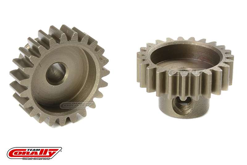 Team Corally - M0.6 Pinion - Short - Hardened Steel - 23 Teeth - Shaft Dia. 3.17mm