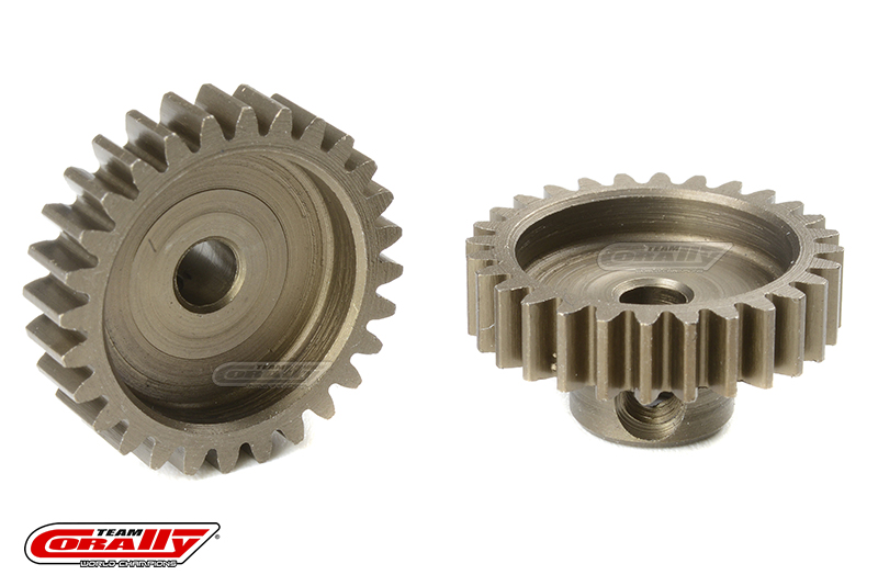 Team Corally - M0.6 Pinion - Short - Hardened Steel - 28 Teeth - Shaft Dia. 3.17mm