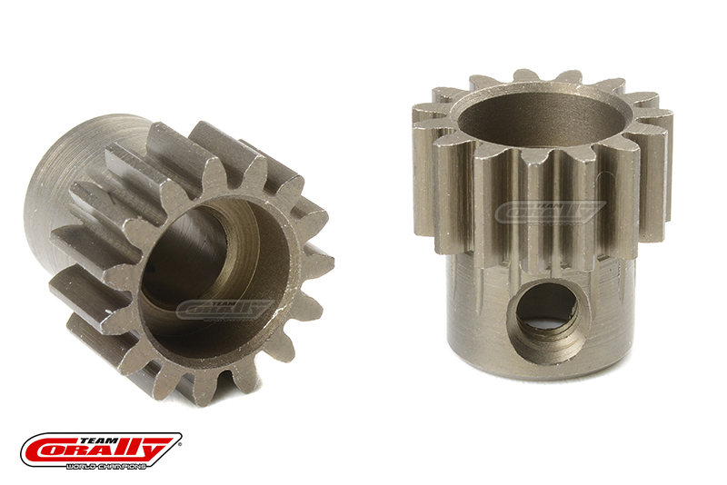 Team Corally - 32 DP Pinion - Short - Hardened Steel - 15 Teeth - Shaft Dia. 5mm