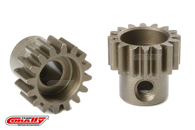 Team Corally - 32 DP Pinion - Short - Hardened Steel - 16 Teeth - Shaft Dia. 5mm