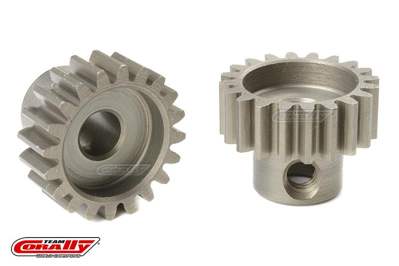 Team Corally - 32 DP Pinion - Short - Hardened Steel - 20 Teeth - Shaft Dia. 5mm