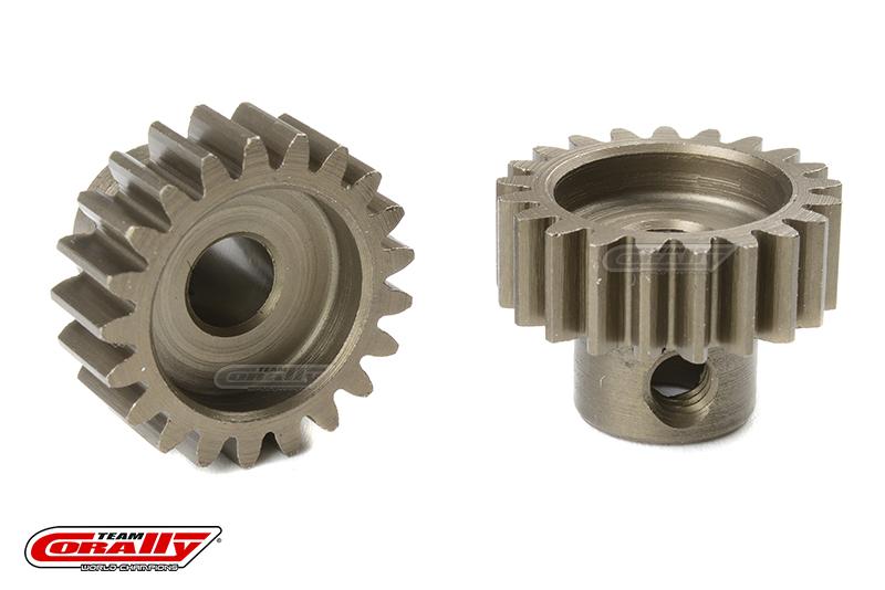 Team Corally - 32 DP Pinion - Short - Hardened Steel - 21 Teeth - Shaft Dia. 5mm