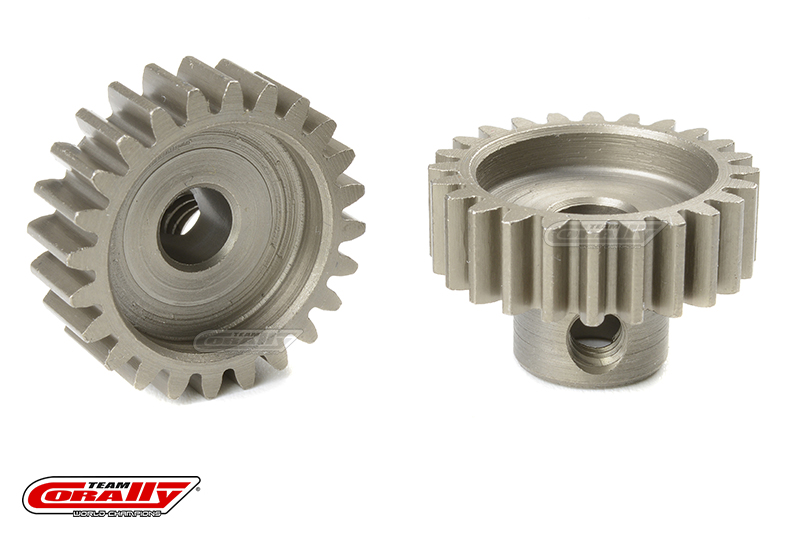 Team Corally - 32 DP Pinion - Short - Hardened Steel - 24 Teeth - Shaft Dia. 5mm