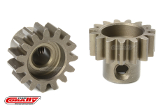 Team Corally - M1.0 Pinion - Short - Hardened Steel - 15 Teeth - Shaft Dia. 5mm