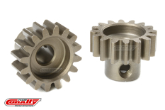 Team Corally - M1.0 Pinion - Short - Hardened Steel - 16 Teeth - Shaft Dia. 5mm