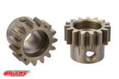 Team Corally - M1.0 Pinion - Short Wide Teeth - Hardened Steel - 15 Teeth - Shaft Dia. 8mm