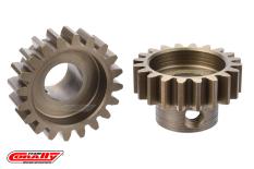 Team Corally - M1.0 Pinion - Short Wide Teeth - Hardened Steel - 20 Teeth - Shaft Dia. 8mm