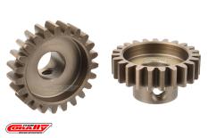 Team Corally - M1.0 Pinion - Short Wide Teeth - Hardened Steel - 22 Teeth - Shaft Dia. 8mm