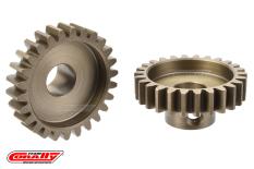 Team Corally - M1.0 Pinion - Short Wide Teeth - Hardened Steel - 25 Teeth - Shaft Dia. 8mm