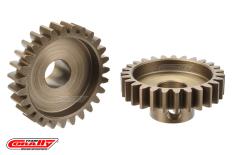 Team Corally - M1.0 Pinion - Short Wide Teeth - Hardened Steel - 27 Teeth - Shaft Dia. 8mm