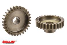 Team Corally - M1.0 Pinion - Short Wide Teeth - Hardened Steel - 28 Teeth - Shaft Dia. 8mm