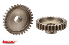 Team Corally - M1.0 Pinion - Short Wide Teeth - Hardened Steel - 30 Teeth - Shaft Dia. 8mm