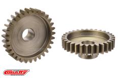 Team Corally - M1.0 Pinion - Short Wide Teeth - Hardened Steel - 31 Teeth - Shaft Dia. 8mm