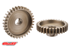 Team Corally - M1.0 Pinion - Short Wide Teeth - Hardened Steel - 32 Teeth - Shaft Dia. 8mm