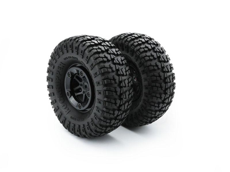 Carisma RC - SCA-1E Beadlock Wheel - Tire Set 2pcs