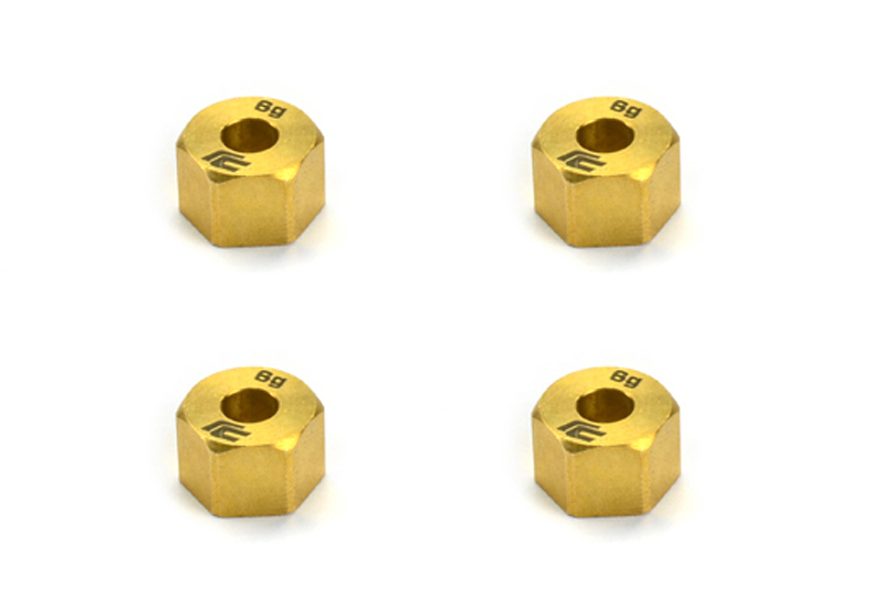Carisma RC - SCA-1E Brass Weight Wheel Hex Set 4pcs
