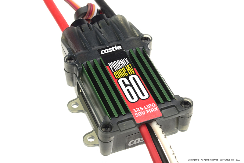 Castle - Phoenix Edge 60 HV - High Performance Air-Heli High Voltage Brushless Controller - Datalogging - Telemetry Capable - Aux. Wire - 6-12S - 60A - Opto
