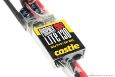 Castle - Phoenix Edge Lite 130 - High Performance Air-Heli Brushless Controller - Lite version - Datalogging - Telemetry Capable - Aux. Wire - 2-8S - 130A - 5A SBec