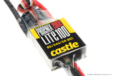 Castle - Phoenix Edge Lite 100 - High Performance Air-Heli Brushless Controller - Lite version - Datalogging - Telemetry Capable - Aux. Wire - 2-8S - 100A - 5A SBec