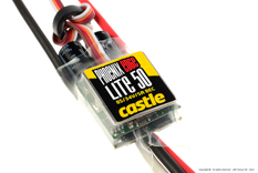 Castle - Phoenix Edge Lite 50 - High Performance Air-Heli Brushless Controller - Lite version - Datalogging - Telemetry Capable - Aux. Wire - 2-8S - 50A - 5A SBec