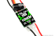 Castle - Talon 15 - High Performance Air-Heli Brushless Controller - Telemetry Capable - 2-6S - 15A - High Power SBec