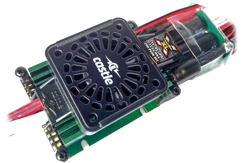 Castle - Mamba XLX - 1-5 Extreme Car Controller - Datalogging - Telemetry Capable - Aux. Wire - 3-8S - High Power SBec