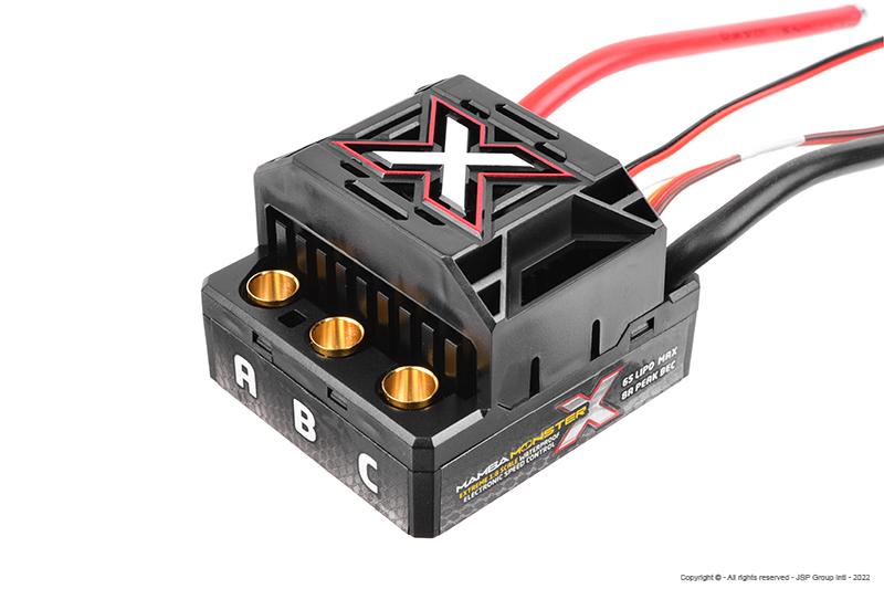 Castle - Mamba Monster X - 1-8 Extreme Car Controller - Waterproof - Datalogging - Telemetry Capable - 2-6S - High Power SBec - Sensored-Sensorless Motors