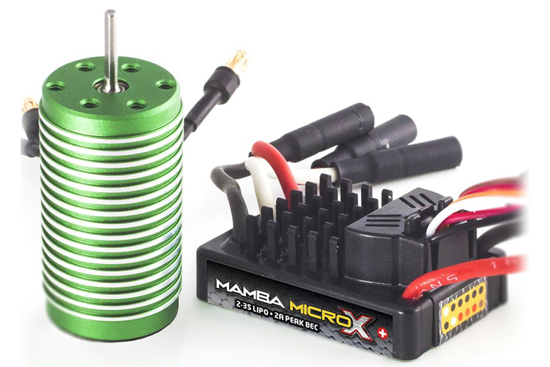 Castle - Mamba Micro X - Combo - 1-18 Extreme Car Controller with 0808-8200 Sensorless Motor
