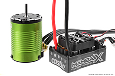 Castle - Mamba X - Combo - 1-10 Extreme Car Controller with 1406-4600 Sensored Motor