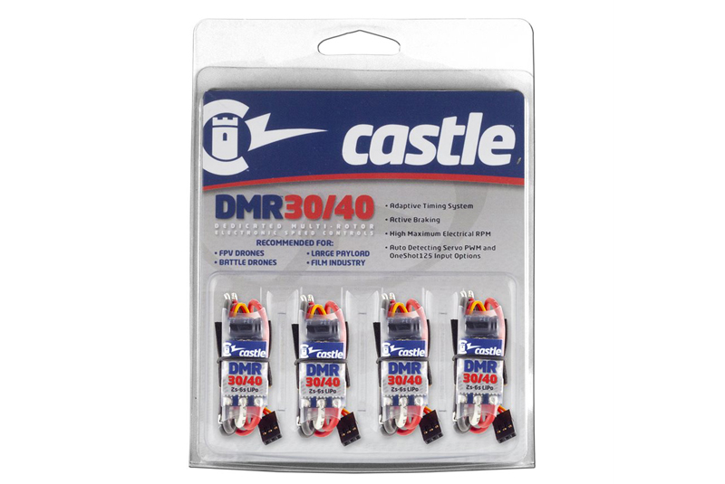 Castle - DMR 30/40 - Dedicated Multi-Rotor Controllers - 2-6S - 40A - 4 Pack
