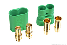 Castle - CC Polarized Bullet Connector 6.5mm - Set Male + Female