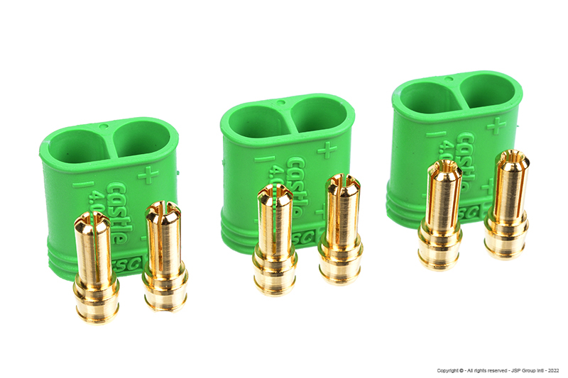 Castle - Polarized Bullet Connector 4mm - Male Set