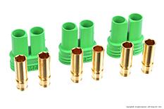 Castle - Polarized Bullet Connector 4mm - Female Set