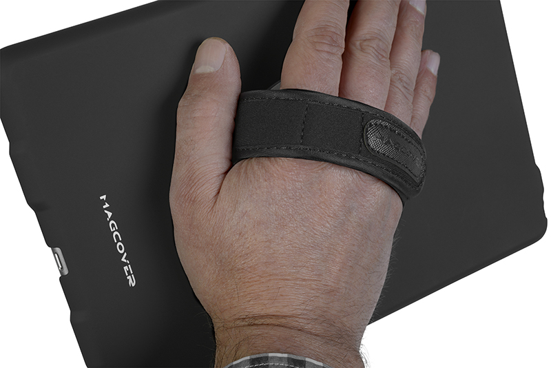 Magcover - Hand Holder Patch for iPad Slim Case Series - Adjustable Velcro Strap - Silver - Patented