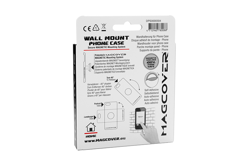 Magcover - Wall Mount Patch for iPhone Case Series - 1 pc - Silver - Patented