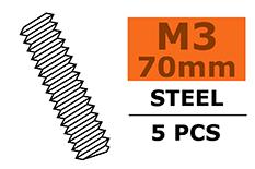 Revtec - Tie Rod - M3X70 - Steel - 5 pcs