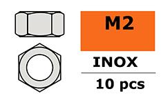 Revtec - Hexagon Nut - M2 - Inox - 10 pcs