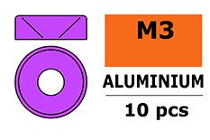 for M3 Flat Head Screws Aluminium Washer Purple 10 p OD=8mm G-Force RC