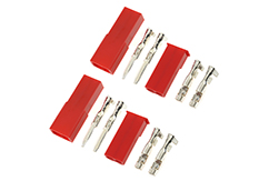G-Force RC - Connector - BEC - Gold Plated - Male + Female - 2 pairs