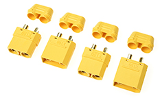 Revtec - Connector - XT-90H - w/ Cap - Gold Plated - Male + Female - 2 pairs