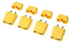 Revtec - Connector - XT-90H - w/ Cap - Gold Plated - Male - 4 pcs