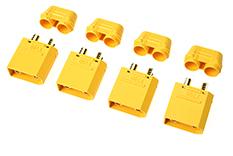 Revtec - Connector - XT-90H - w/ Cap - Gold Plated - Female - 4 pcs